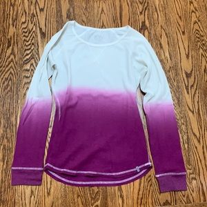 Marc New York Ombre gradient waffle top
